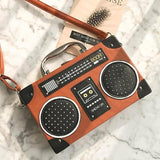 Summer Radio Tape Printed Mini Shoulder Bag-women-wanahavit-orange-Mini(Max Length<20cm)-wanahavit