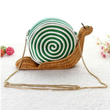 Snail ShapeCasual Clutch Rattan Handbag-women-wanahavit-Green-wanahavit