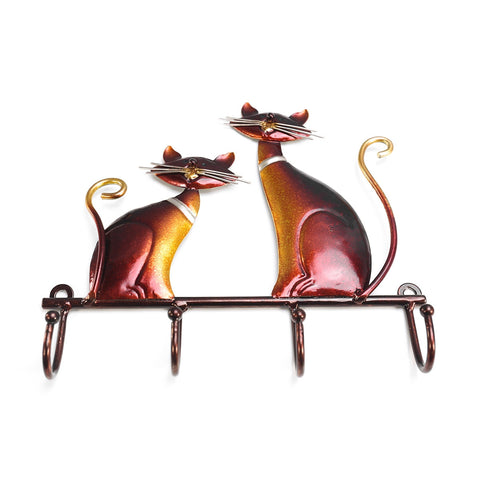 Iron Vintage Cat Wall Hanger-home accent-wanahavit-Dark Khaki-wanahavit