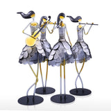 Girl Band Iron Figurine Set-home accent-wanahavit-One set-wanahavit