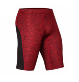 2 Color Stripe and Accent Compression Shorts-men fitness-wanahavit-1505 red shorts-M-wanahavit