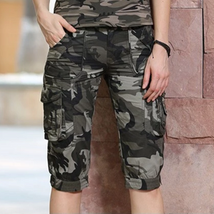 Fashion Camouflage Cargo Knee Length Shorts-unisex-wanahavit-camouflage-26-wanahavit