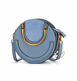 Luxurious Genuine Leather Circular Handbag-women-wanahavit-Blue-wanahavit