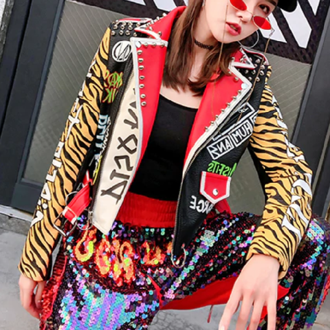 3217ecf0d Punk Rock Disorder Leopard Studded Leather Jacket – wanahavit