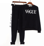 Vogue Printed Tracksuit Set Sweatshirt + Pant