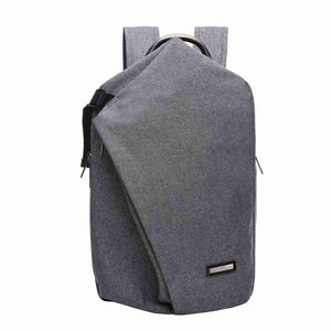 Canvas Double Partitioned Backpack-men-wanahavit-Gray-30cm by 45cm by 12cm-wanahavit