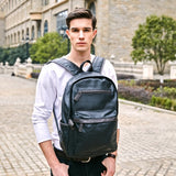 Trendy Silt Pocket Leather Laptop Backpack-men-wanahavit-Blue-wanahavit