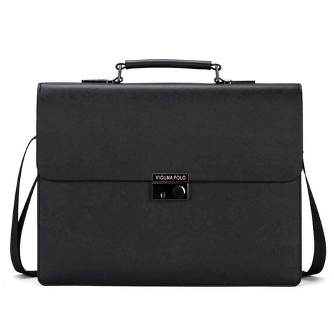 Snapper Businessmen Hard Leather Briefcase-men-Black-wanahavit