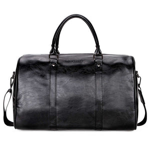 Casual PU Leather Business Travel Bag-men-wanahavit-Black-wanahavit