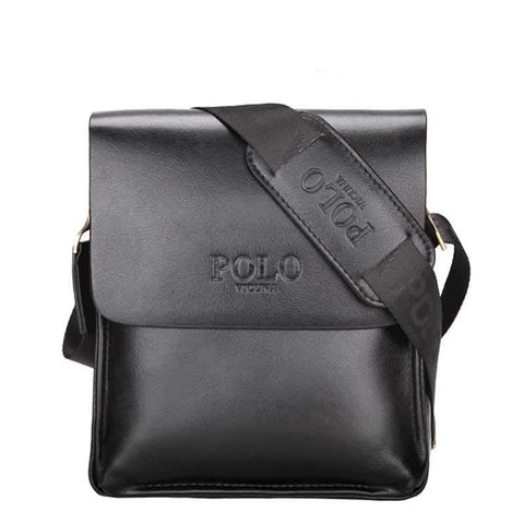 Minimalist Businessmen Leather Shoulder Bag-men-Small Black-wanahavit