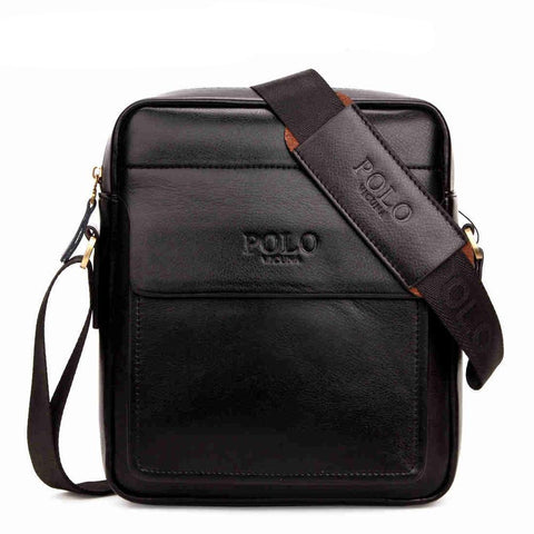 Square Businessmen Leather Shoulder Bag-men-wanahavit-Small Black-wanahavit