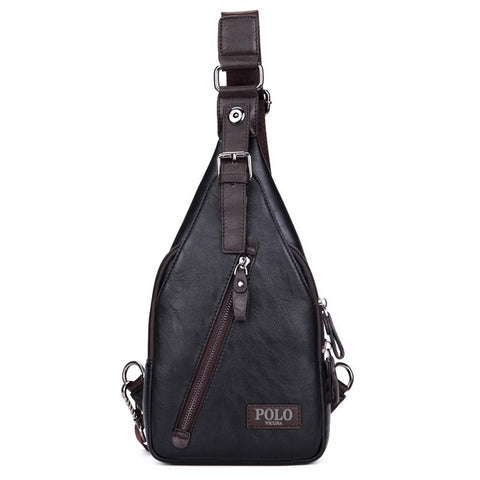 Magnetic Button Lock Leather Shoulder Bag-men-wanahavit-Black-wanahavit