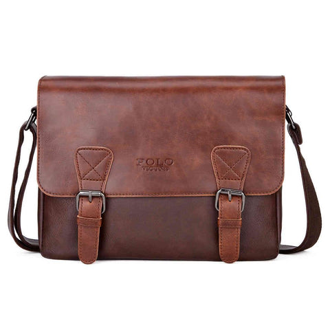 Fashion Leather Men Satchel Shoulder Bag