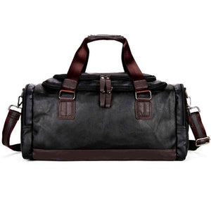 Large Capacity Simple Contrast Black Duffel Bag-men-wanahavit-black-wanahavit
