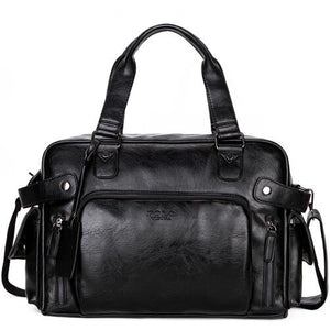 Large Capacity PU Leather Travel Bag-men-wanahavit-black travel bag-wanahavit