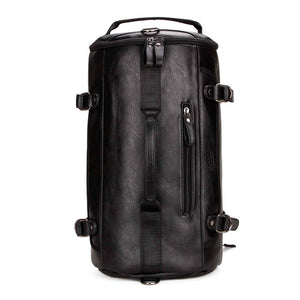Elegant Large Capacity Leather Duffle Backpack-wanahavit-Black-wanahavit