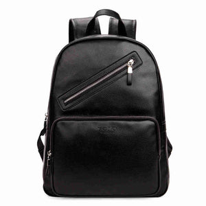 Preppy Style Leather Laptop Backpack-unisex-wanahavit-Black-wanahavit