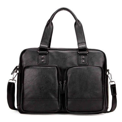 High Quality PU Leather Travel Bag with Large Pockets
