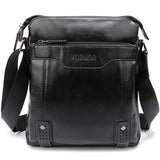 Hollow Bottom Decor Leather Briefcase-men-wanahavit-Small Black-wanahavit