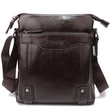 Hollow Bottom Decor Leather Briefcase-men-wanahavit-Small Coffee-wanahavit
