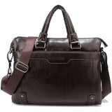 Hollow Bottom Decor Leather Briefcase-men-wanahavit-Coffee-wanahavit