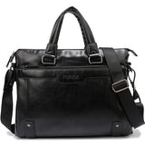 Hollow Bottom Decor Leather Briefcase-men-wanahavit-Black-wanahavit
