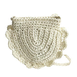 Half Moon Crochet Straw Braid Shoulder Bag-women-wanahavit-Beige-wanahavit