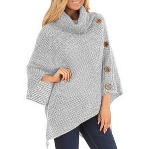 Casual Knitted Turtleneck Warm Winter Sweater-women-wanahavit-Light Gray-S-wanahavit