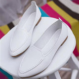 Summer Style Slip On Pointed Shoes-women-wanahavit-White-4-wanahavit