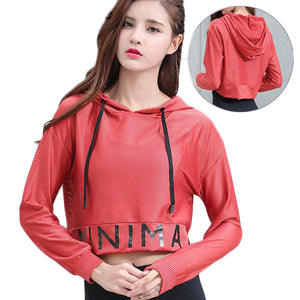 Breathable Long Sleeve Hooded Jersey Shirt-women fashion & fitness-wanahavit-Red-S-wanahavit