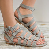 Plus Size Gladiator Flat Sandals-women-wanahavit-Gray-4.5-wanahavit