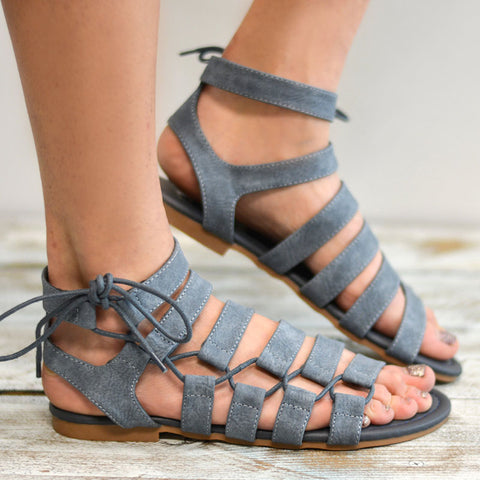 Plus Size Gladiator Flat Sandals-women-wanahavit-Blue-4.5-wanahavit
