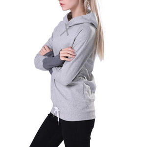 Patchwork Long-sleeved Pullovers Hoodies-women fashion & fitness-wanahavit-Gray and Dgray-S-wanahavit