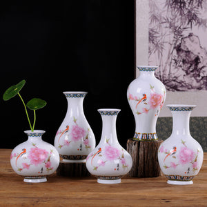 Vintage Chinese Decorative Ceramic Flower Vase-home accent-wanahavit-Design A3-wanahavit