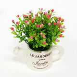 Artificial Plastic Plant with Ceramic Vase-home accent-wanahavit-C-wanahavit