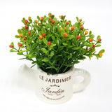 Artificial Plastic Plant with Ceramic Vase-home accent-wanahavit-F-wanahavit