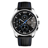 Luxury Leather Strap Waterproof Wristhwatch-men-wanahavit-Blue-wanahavit