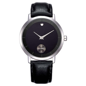 Minimalist Dial Waterproof Leather Wristwatch-men-wanahavit-black-wanahavit