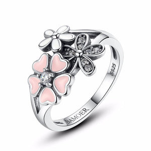 925 Sterling Silver Pink Cherry Flower Blossom Ring-women-wanahavit-6-wanahavit