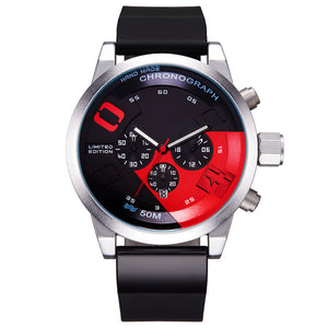 Racing Car Inspired Waterproof Wristwatch v1-men-wanahavit-redblack-wanahavit