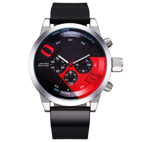 Racing Car Inspired Waterproof Wristwatch v1-men-redblack-wanahavit