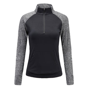 Long Sleeve Jersey Tracksuit-women fitness-wanahavit-Black-S-wanahavit