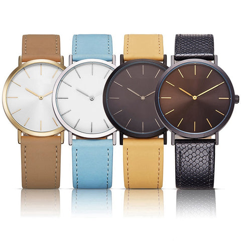 Elegant Ladies Waterproof Leather Strap Watch