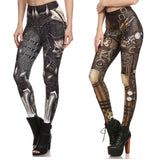 Steam Punk & Barbarian Skull Leggings-women fitness-wanahavit-Steampunk-S-wanahavit