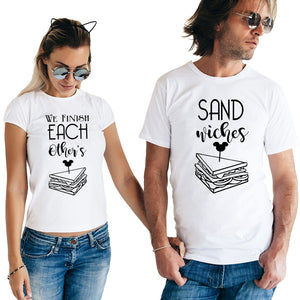We Finish Each Other's Sandwiches Matching Couple Tees-unisex-wanahavit-FE05-FSTWH-S-wanahavit