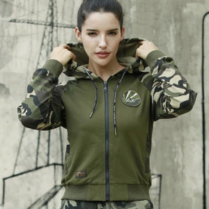 Army Camouflage Zip Up Hooded Sweatshirt-women-wanahavit-Multi-M-wanahavit