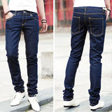 Casual Stylish Slim Fit Pencil Pants-men-wanahavit-Blue-28-wanahavit