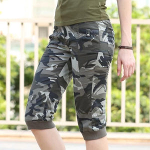 Summer Style Knee length Military Camouflage Shorts-women-wanahavit-Multi-26-wanahavit