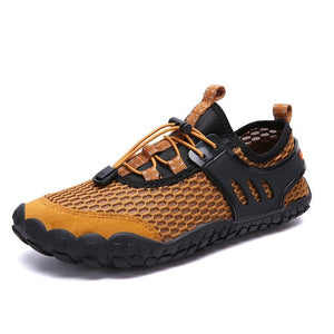 Summer Breathable Flat Slip On Comfortable Casual Shoes-men-wanahavit-yellow-7-wanahavit