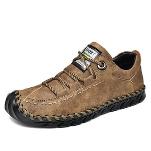 Fashion Leather Spring Casual Vintage Moccasin Shoe-men-wanahavit-Khaki-8-wanahavit